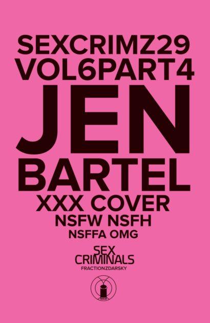 Sex Criminals #20 XXX Cover Bagged  Image  Comics CB14266